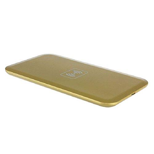 Mallom(TM) 1 Set Qi Wireless Charging Pad+receiver Kit for Samsung Galaxy Note 3 N9000 (Gold)