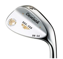 Cleveland 588 Forged Chrome Wedge (Low Bounce ) : Right, Loft: 54 Bounce: 8 True Temper Tour Concept Steel (Wedge)
