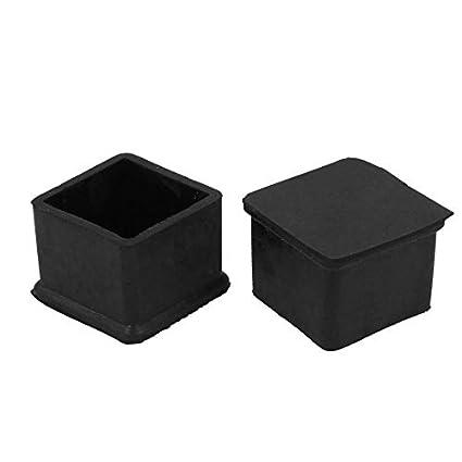 Amazon.com: eDealMax 2pcs 30 mm x 30 mm Silla Pies pata de la mesa empotrada goma Parachoques Cubiertas Negro: Kitchen & Dining