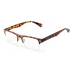 Readers.com The Ottawa Brown Tortoise Browline with Tortoise or Black Frame Reading Glasses