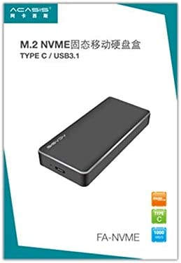 FA-NVME M.2 NVME to USB 3.1 Gen2 USB-C//Type-C Solid State Drive Enclosure 2TB Durable The Maximum Support Capacity