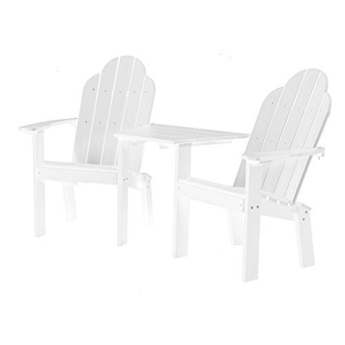 Wildridge Outdoor Recycled Plastic Classic Deck Chair Tete a Tete - Ships in 10-14 Business Days (Tete Classic A-tete)
