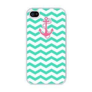 iphone covers Chevron Pattern with Anchor Rubber Case for Iphone 6 4.7 + Free Wristband Accessory