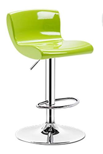 Bar Stool with Footrest, Bar Stools Set with Backrest, Adjustable Swivel Gas Lift, Chrome Footrest and Base for Breakfast Bar, Counter, Kitchen and Home Bar stools-Green-L