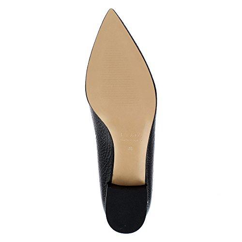 Evita Shoes Franca Damen Pumps Genarbtes Leder Schwarz