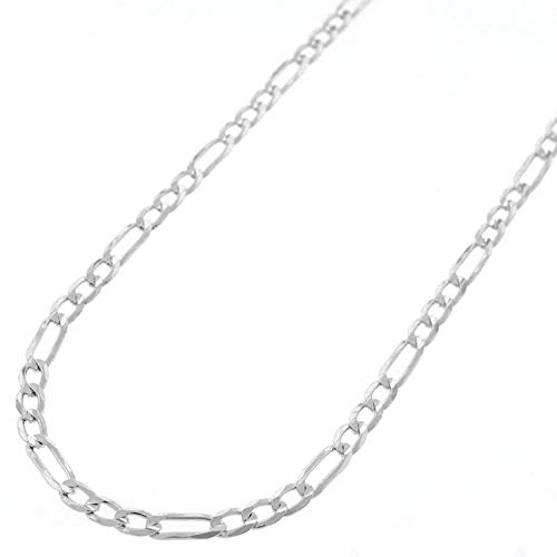 "Sterling Silver Italian 3mm Figaro Link ITProLux Solid 925 Necklace Chain 16"" - 30"" (24)"