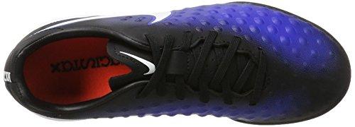 Nike 844421-015, Botas de Fútbol Niños Negro (Black / White / Paramount Blue / Blue Tint)