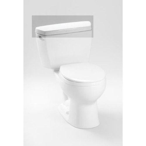 Toto TCU743CRE#01 Tank Lid with E-Max Lid Sticker for Drake ST743E Toilet Tank, Cotton