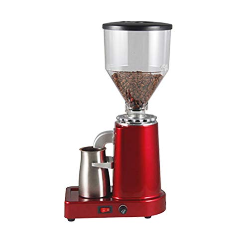 Huanyu Electric Coffee Grinder 1000G Commercial&Home Grinding Machine for Beans Nuts Spice Automatic Burr Grinder 200W Professional Miller 19 Fine – Coarse Grind Size Settings Stainless Steel Cutter Pulverizer (110V, Red with Stainless Steel Powder Container)