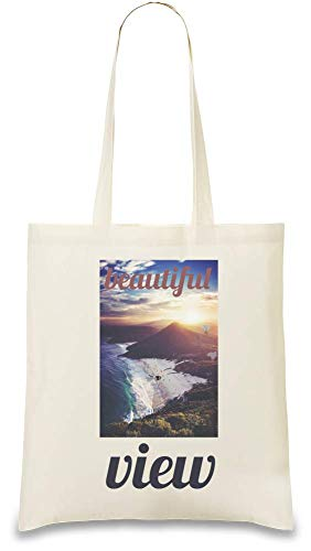 Color Naturel Custom Printed Bag Every Beautiful Soft Bags Shoulder Stylish amp; Vue View Handbag Josh Apparel Day Tote Cotton By usable 100 Unique friendly Re Natural God For Use Belle Eco cnWPWA6x