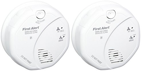 First Alert SCO5CN Combination Smoke and Carbon Monoxide Alarm, Battery Operated (2 PACK)
