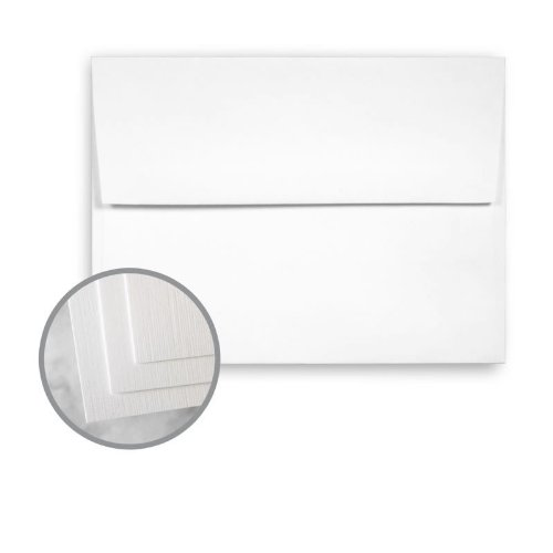 CLASSIC Linen Solar White Envelopes - A6 (4 3/4 x 6 1/2) 24 lb Writing Linen Watermarked 1000 per Carton by Neenah Paper CLASSIC Linen