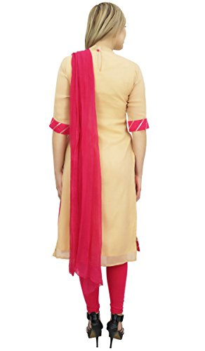 Long Suit Beige Salwar Casual Atasi Cut Straight Churidar amp; Georgette Magenta Readymade Enx4wpnqTU