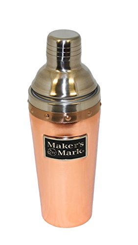 Maker's Mark Cocktail Shaker Copper and Stainless Steel