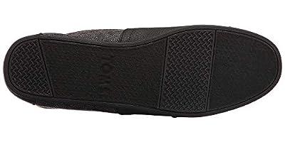 TOMS Women's Black Leather Lunata Bootie - 11 B(M) US
