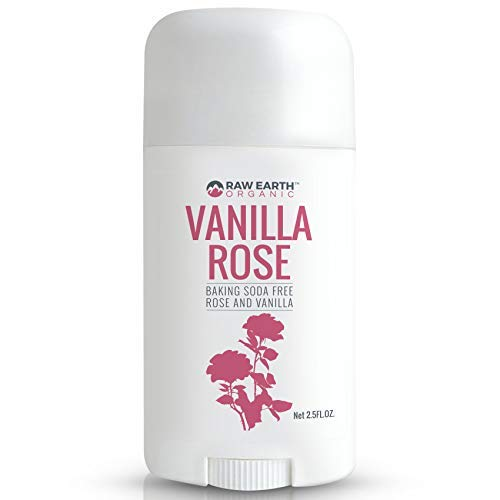 Raw Earth Organic All Natural Vegan Magnesium Deodorant - Baking Soda & Aluminum Free - Rose and Vanilla (2.5oz)