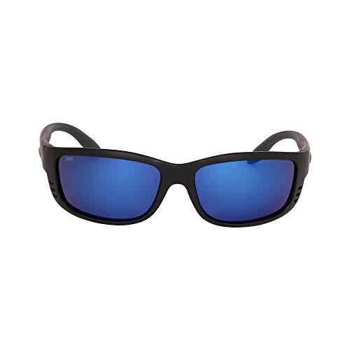 Costa Del Mar Zane Sunglasses, Black, Blue Mirror 580Plastic