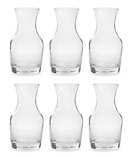 Cornucopia Mini Individual Wine Carafes (6-Pack); 6.5oz Single-Serving Personal Size Decanters for Dinner Parties, Wine Tastings, and More