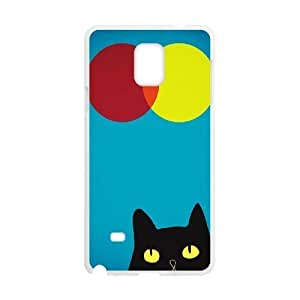 Cat, Sun and Moon Design Discount Personalized Hard Case Cover for Samsung Galaxy Note 4, Cat, Sun and Moon Galaxy Note 4 Cover
