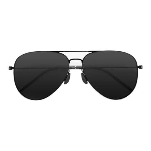HITSAN INCORPORATION Original Xiaomi Mijia Mi TS Computer Glasses Polarized UV Lens Sunglasses, 304H Stainless Steel Gravity Rear Frame(Black) ()