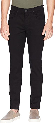 Hudson Jeans Men's Byron Straight Zip Fly Twill, Blackened,