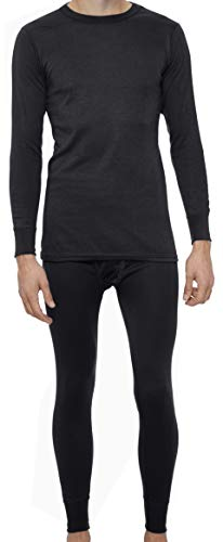 Rocky Thermal Underwear for Men Heavyweight Fleece Lined Thermals Men's Base Layer Long John Set