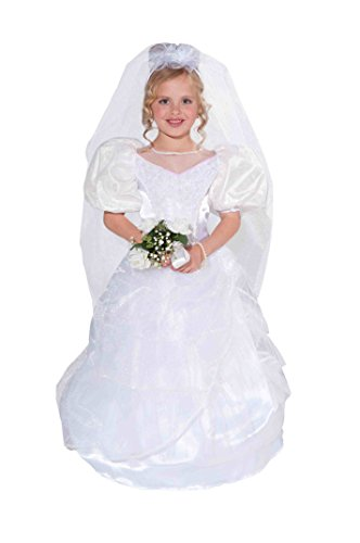 Forum Novelties Designer Collection Deluxe Costume Wedding Dress and Veil, Child Medium