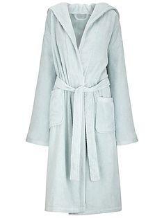 John Lewis Mens Cotton Bath Robedressing Gown Lt Blue Lxl Rrp 55