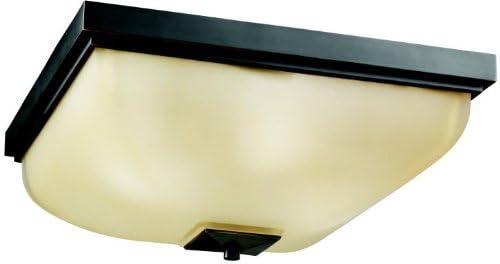 Kichler 7011OZ, Glass Flush Mount Ceiling Lighting, 4 Light, 240 Total Watts, Olde Bronze
