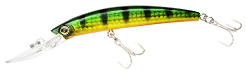 Yo-Zuri Crystal Minnow Deep Diver Floating Lure, Perch, 4-3/8