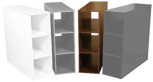 Venture Horizon 1145-60DW Walnut Project Center 3 Bin Cabinet