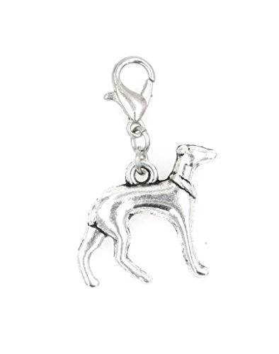 - It's All About...You! Greyhound Dog Clip on Charm Perfect for Necklaces and Bracelets 103U