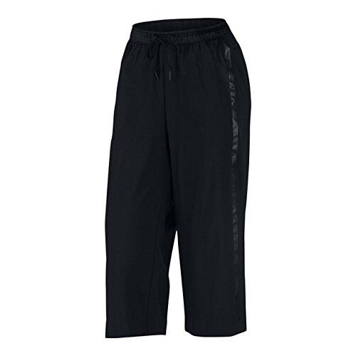 f51103e406820 Nike Sportswear Woven Bonded Womens Capris/Culotte 3/4 Pants Size S Black