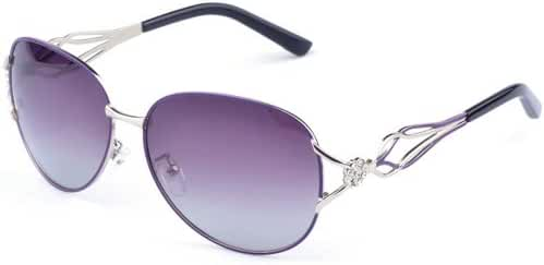 Outray Women's Crystals Oval 55mm Polarized Sunglasses