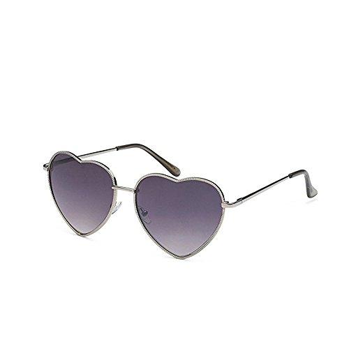 Meyison Vintage Heart Shaped Sunglasses Thin Metal Frame Lovely Aviator Style Eyewear