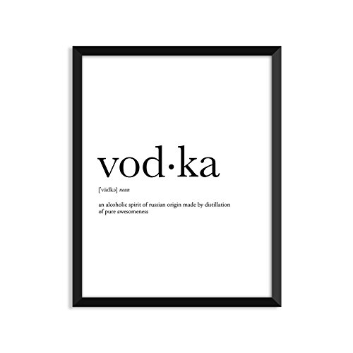 Vodka Definition - Unframed Art Print Poster Or Greeting Card