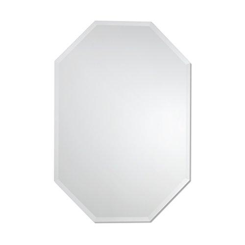 (Octagon Mirror   Frameless Beveled Mirror   Bathroom, Vanity, Bedroom Mirror (28-inch x 40-inch))