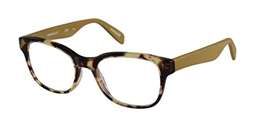 Burrows Street - Square Trendy Fashion Reading Glasses for Men and Women - Tortoise/Goldenrod Tan (+2.50 Magnification Power) (Reading Street Glasses Scojo)