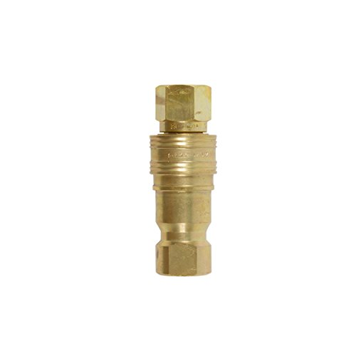 Gas Fire Pit/ Heater BRASS HEAVY DUTY QUICK CONNECT/ DISCONNECT SUPPLY AND RECEIVING SIDES FOR PROPANE / NATURAL GAS (1/2'' Complete Quick Connect) by EasyFirePits.com