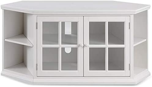 Beaumont Lane Corner Console TV Stand Entertainment Media Center, for TVs up to 60 , in Cottage White