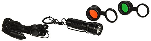 (Streamlight 72016 KeyMate Flashlight Filter Combo with Lanyard, White LED, Red and Green Filters, Black - 10 Lumens)