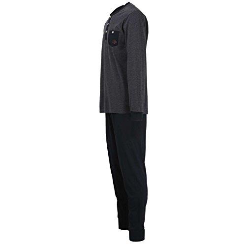 ... TOM TAILOR Herren Pyjama, langarm, Baumwolle, Single Jersey, grau,  melange, ...