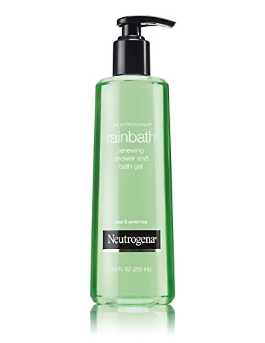Neutrogena Rainbath Renewing Shower And Bath Gel, Moisturizing Body Wash and Shaving Gel with Clean Rinsing Lather, Pear & Green Tea Scent, 8.5 fl. oz (Pack of 6)