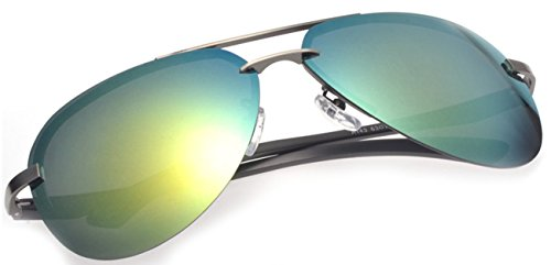Color Film Green Summer Sunglasses Polarizated - Glass Rayband