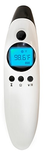 MOBI DualScan HEALTH CHECK Ear & Forehead Thermometer with Medication Reminder