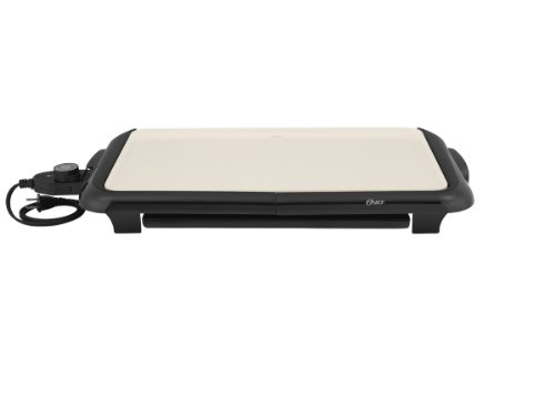 Oster Titanium Infused DuraCeramic Griddle with Warming Tray, Black/Crème (CKSTGRFM18W-TECO) by Oster (Image #16)