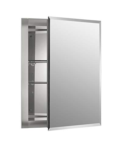 Kohler K-Cb-Clr1620Fs Frameless 16 Inch X 20 Inch Aluminum Bathroom Medicine Cabinet; - Ikea Bathroom With Mirrors Lights Cabinet