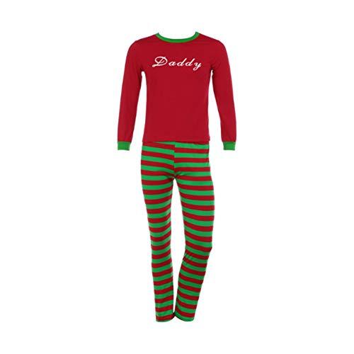 Xinvision Famille Noël Pyjamas Lettres Pyjama Famille Vêtements Imprimés Costume Papa