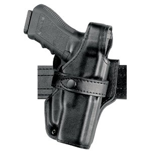Safariland 070 Level III Retention Duty Holster, Mid-Ride, Black, High Gloss, Glock 17, 22 (Right Hand)