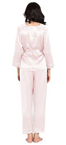 Tagliato Set Seta Donna chiaro 100 22 LILYSILK pura pigiama di momme Classico Rosa 6qwBdvx